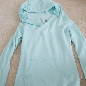 Blue hoodie with front pocket